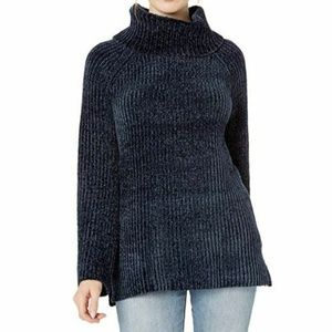 Lucky Brand XL Navy Chenille Cowl Neck Top 3Y410